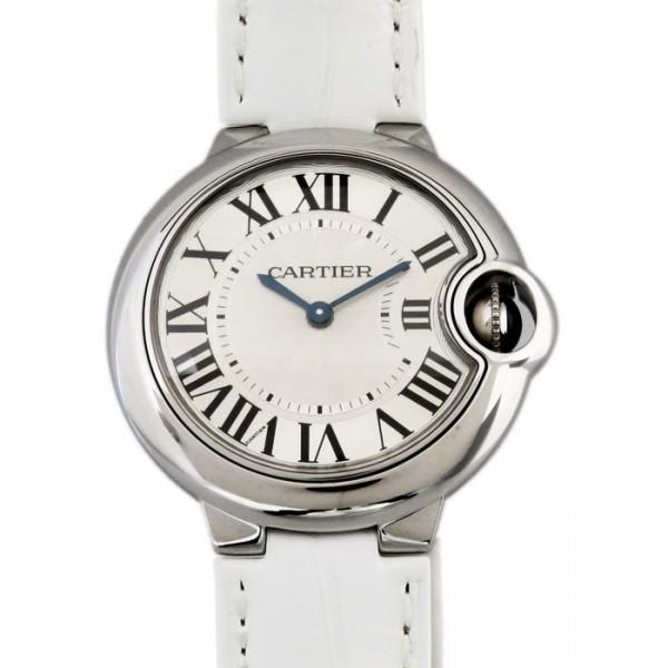 カルティエ CARTIER バロンブルー W6920086 シルバー文字盤 レディース 腕時計 【新品】