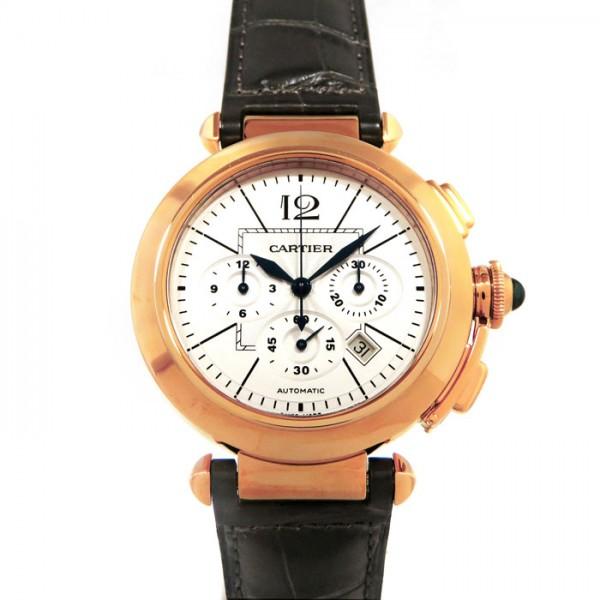 カルティエ CARTIER パシャ 42mm クロノグラフ W3019951 シルバー文字盤 メンズ 腕時計 【新品】