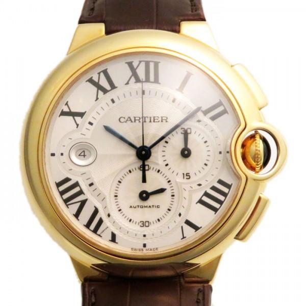 カルティエ CARTIER バロンブルー クロノグラフ W6920007 シルバー文字盤 メンズ 腕時計 【新品】