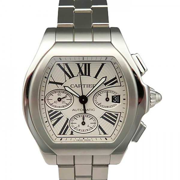 カルティエ CARTIER ロードスター S クロノグラフ XL W6206019 シルバー文字盤 メンズ 腕時計 【新品】