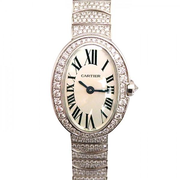 カルティエ CARTIER ベニュワール ミニ HPI00327 ホワイト文字盤 レディース 腕時計 【中古】