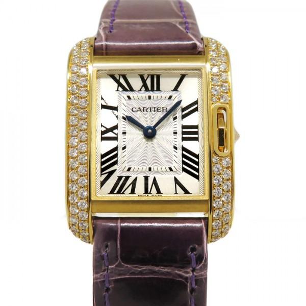 カルティエ CARTIER タンク アングレーズ SM WT100014 シルバー文字盤 レディース 腕時計 【新品】