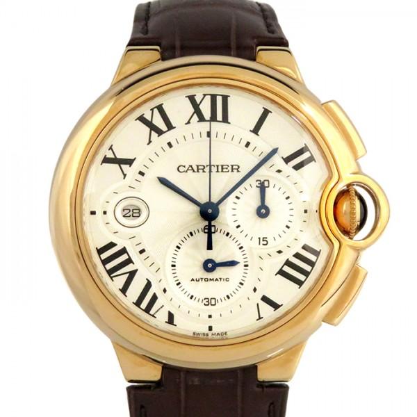 【期間限定ポイント5倍 5/5~5/31】 カルティエ CARTIER バロンブルー クロノグラフ W6920074 シルバー文字盤 メンズ 腕時計 【新品】