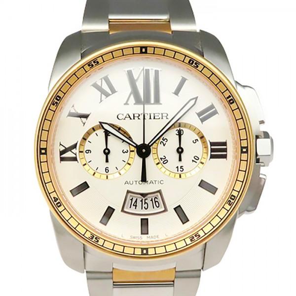カルティエ CARTIER カリブル ドゥ カルティエ クロノグラフ W7100042 シルバー文字盤 メンズ 腕時計 【新品】