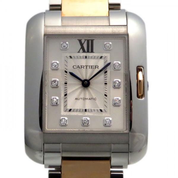 カルティエ CARTIER タンク アングレーズ WT100025 シルバー文字盤 メンズ 腕時計 【新品】