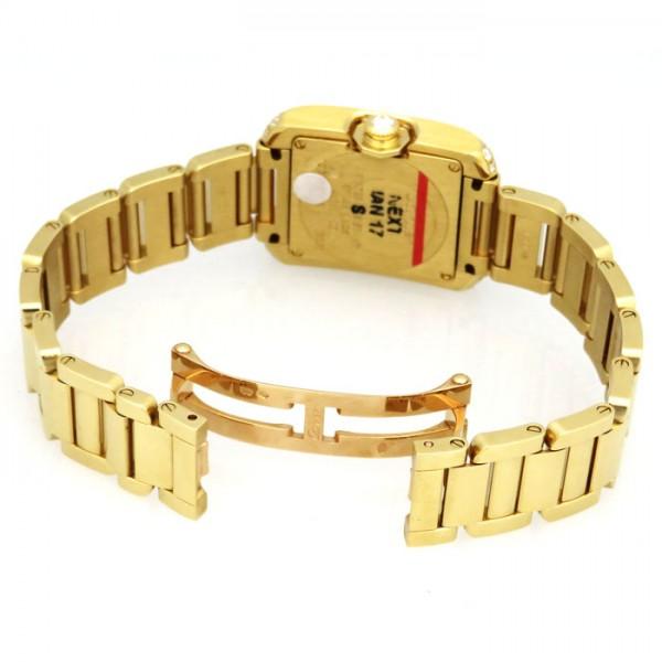 カルティエ CARTIER タンク アングレーズ SM WT100005 シルバー文字盤 レディース 腕時計 【新品】