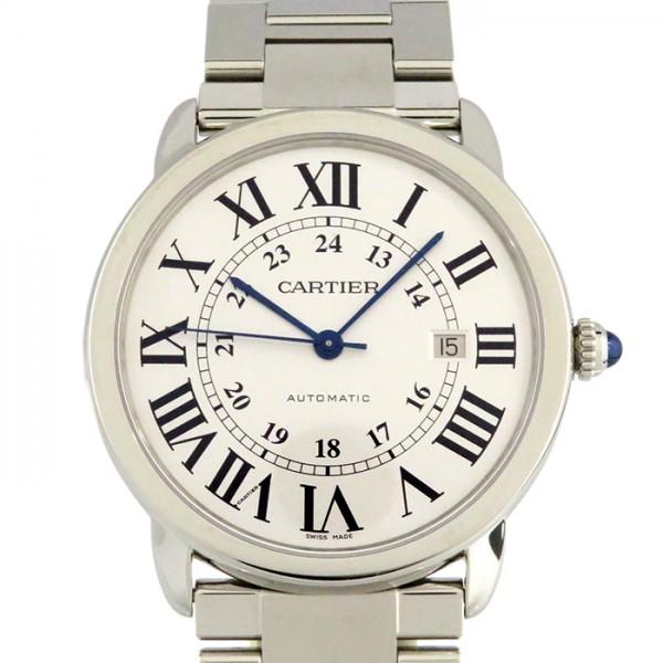 カルティエ CARTIER ロンドソロ XL W6701011 シルバー文字盤 メンズ 腕時計 【未使用】