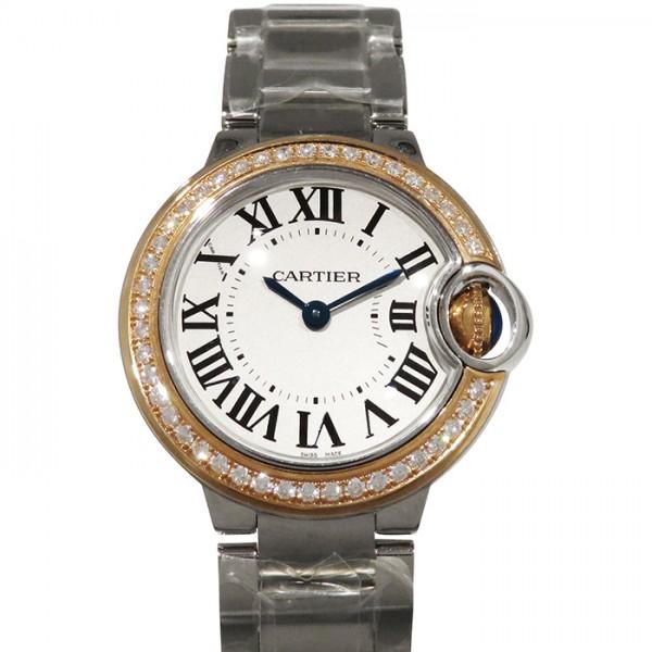 カルティエ CARTIER バロンブルー 28mm WE902079 ブラウン文字盤 レディース 腕時計 【新品】