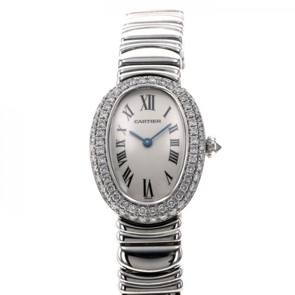 カルティエ CARTIER ベニュワール ベゼルダイヤ - ホワイト文字盤 レディース 腕時計 【中古】