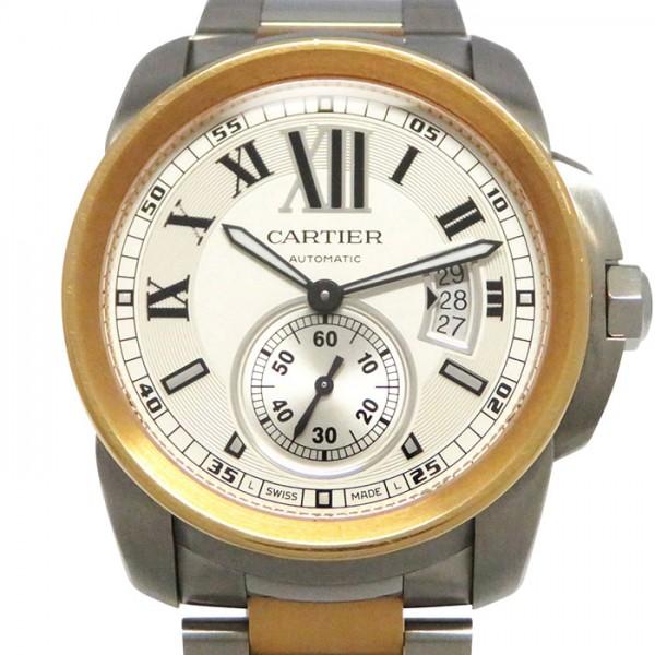 カルティエ CARTIER カリブル ドゥ カルティエ W7100036 シルバー文字盤 メンズ 腕時計 【中古】