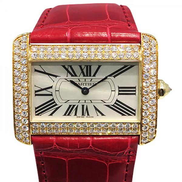 カルティエ CARTIER タンク ディヴァン ベゼルダイヤ WA301156 シルバー文字盤 レディース 腕時計 【新品】