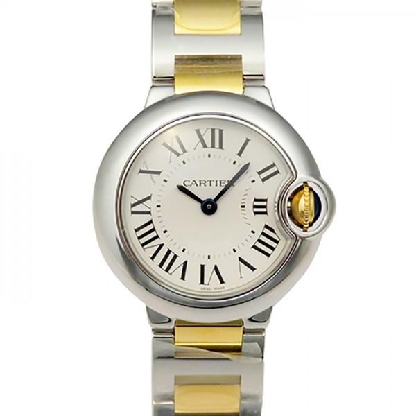 カルティエ CARTIER バロンブルー SM W2BB0010 ホワイト文字盤 レディース 腕時計 【新品】