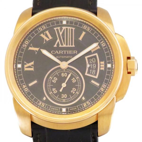 カルティエ CARTIER カリブル ドゥ カルティエ W7100007 ブラウン文字盤 メンズ 腕時計 【新品】