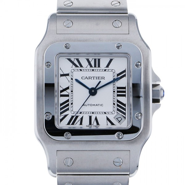 カルティエ CARTIER サントス ガルベ XL W20098D6 ホワイト文字盤 メンズ 腕時計 【未使用】