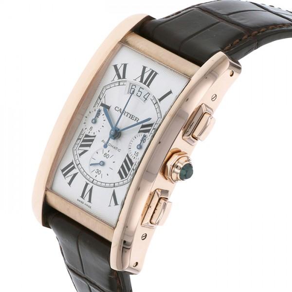 カルティエ CARTIER タンク アメリカン クロノグラフ XL W2609356 シルバー文字盤 メンズ 腕時計 【新品】