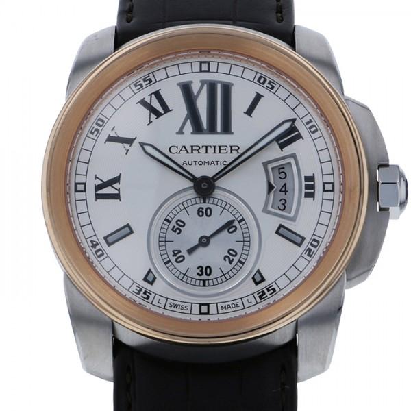 カルティエ CARTIER カリブル ドゥ カルティエ W7100011 シルバー文字盤 メンズ 腕時計 【新品】