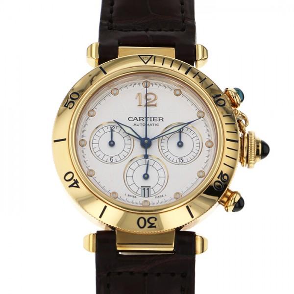 カルティエ CARTIER パシャ クロノグラフ - シルバー文字盤 メンズ 腕時計 【中古】