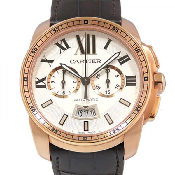 カルティエ CARTIER カリブル ドゥ カルティエ クロノグラフ W7100044 シルバー文字盤 メンズ 腕時計 【新品】