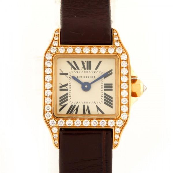 カルティエ CARTIER サントス ミニサントス ドゥ モワゼル WF902004 ホワイト文字盤 レディース 腕時計 【中古】