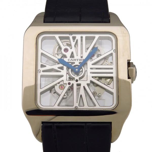 カルティエ CARTIER サントス デュモン スケルトン W2020033 スケルトン文字盤 メンズ 腕時計 【中古】