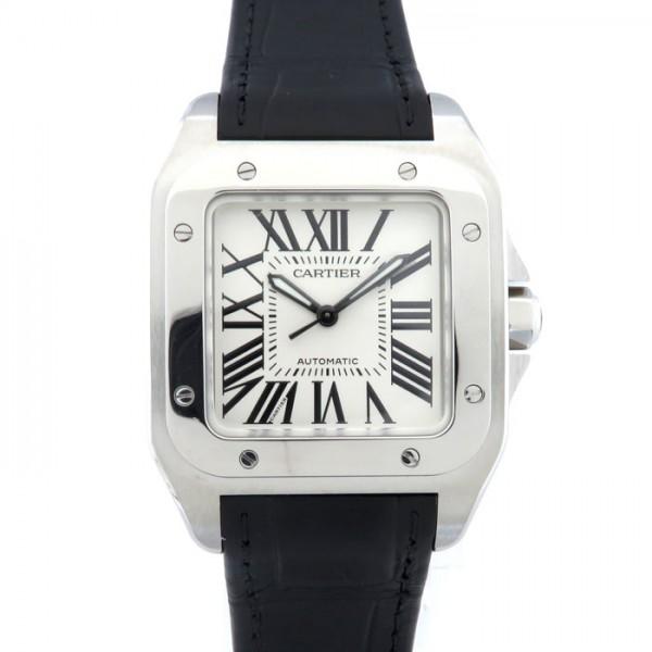 カルティエ CARTIER サントス 100 MM W20106X8 シルバー文字盤 レディース 腕時計 【新品】