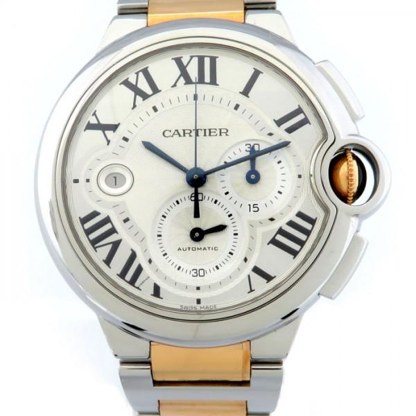 【期間限定ポイント5倍 5/5~5/31】 カルティエ CARTIER バロンブルー クロノグラフ W6920063 シルバー文字盤 メンズ 腕時計 【新品】