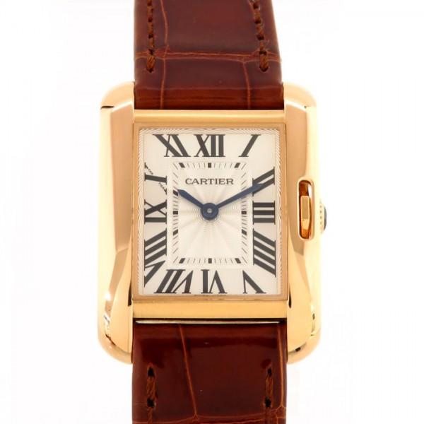 カルティエ CARTIER タンク アングレーズSM W5310027 シルバー文字盤 レディース 腕時計 【中古】
