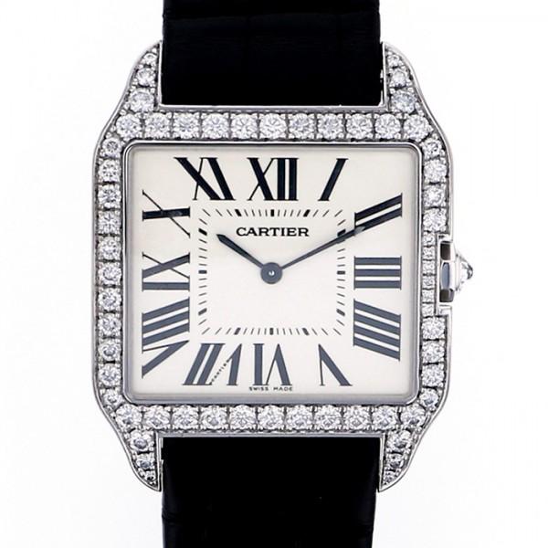 カルティエ CARTIER サントス デュモン WH100651 シルバー文字盤 メンズ 腕時計 【中古】