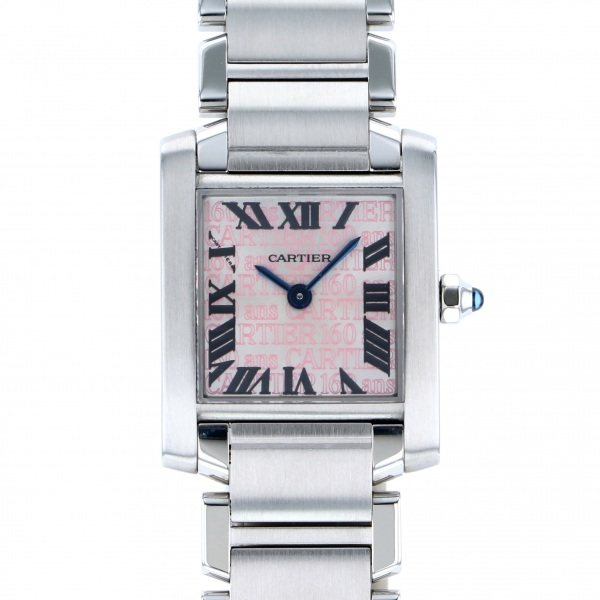 ブランド品専門の カルティエ Cartier タンク フランセーズ クリスマス限定モデル W51035Q3 シルバー/ピンク文字盤  腕時計 レディース, 4CUPS+DESSERTS ae358cfa