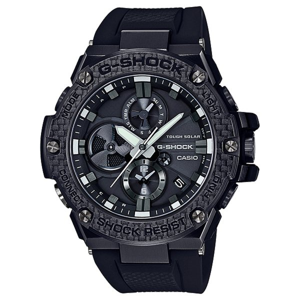 カシオ CASIO Gショック Bluetooth?搭載タフネスクロノグラフ GST-B100X-1AJF ブラック文字盤 メンズ 腕時計 【新品】