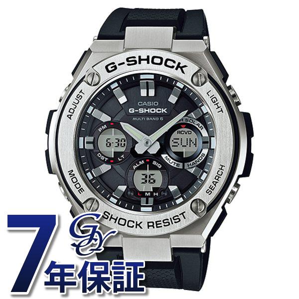 カシオ CASIO Gショック G-STEEL 電波ソーラー GST-W110-1AJF ブラック文字盤 メンズ 腕時計 【新品】