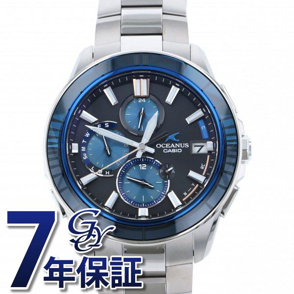 カシオ CASIO オシアナス マンタ OCW-S4000D-1AJF ブラック/ブルー文字盤 メンズ 腕時計 【新品】