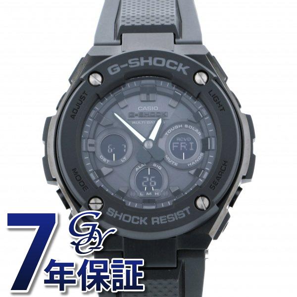 カシオ CASIO Gショック G-STEEL ミドルサイズ 電波ソーラー GST-W300G-1A1JF ブラック文字盤 メンズ 腕時計 【新品】