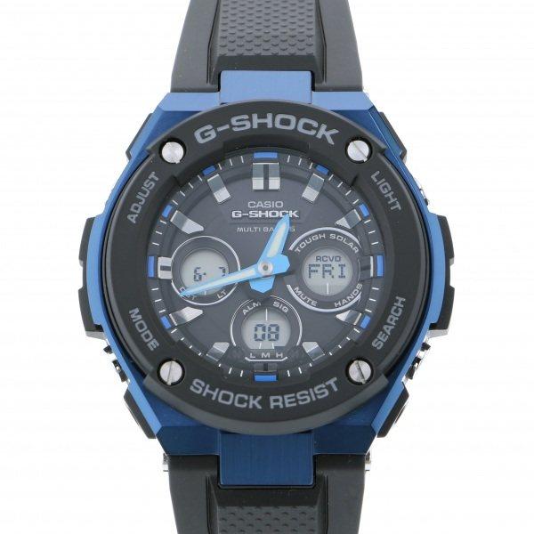 カシオ CASIO Gショック G-STEEL ミドルサイズ 電波ソーラー GST-W300G-1A2JF ブラック文字盤 メンズ 腕時計 【新品】