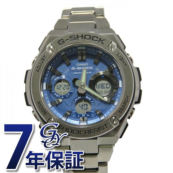 カシオ CASIO Gショック G-SHOCK Gスチール【正規品】 GST-W110D-2AJF ブルー文字盤 メンズ 腕時計 【新品】