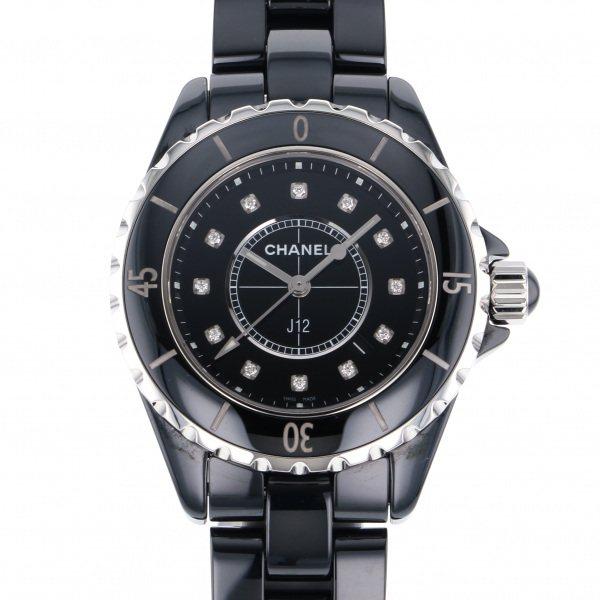 シャネル CHANEL J12 H1625 ブラック文字盤 レディース 腕時計 【中古】