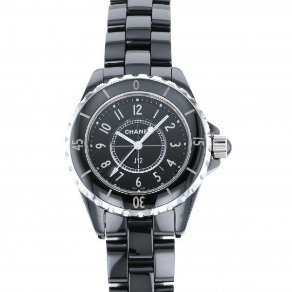 シャネル CHANEL J12 H0682 ブラック文字盤 レディース 腕時計 【中古】
