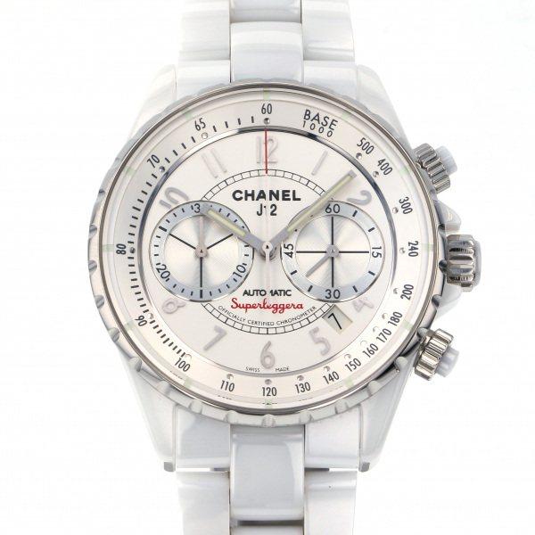 シャネル CHANEL J12 スーパーレッジェーラ H3410 シルバー文字盤 メンズ 腕時計 【中古】