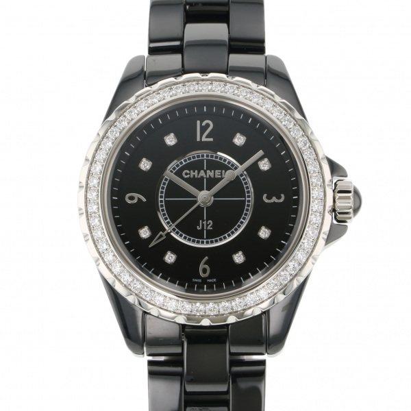 シャネル CHANEL J12 H3108 ブラック文字盤 レディース 腕時計 【新品】