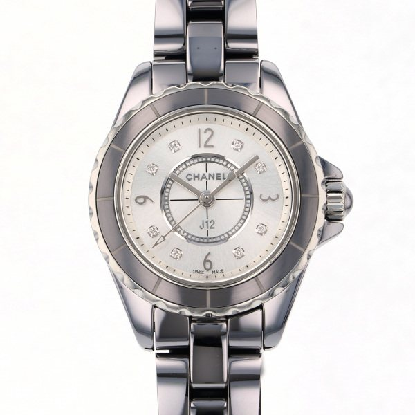 シャネル CHANEL J12 29mm クロマティック H3401 シルバー文字盤 レディース 腕時計 【中古】
