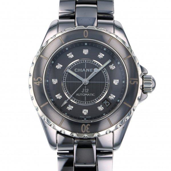 シャネル CHANEL J12 H3242 グレー文字盤 メンズ 腕時計 【中古】