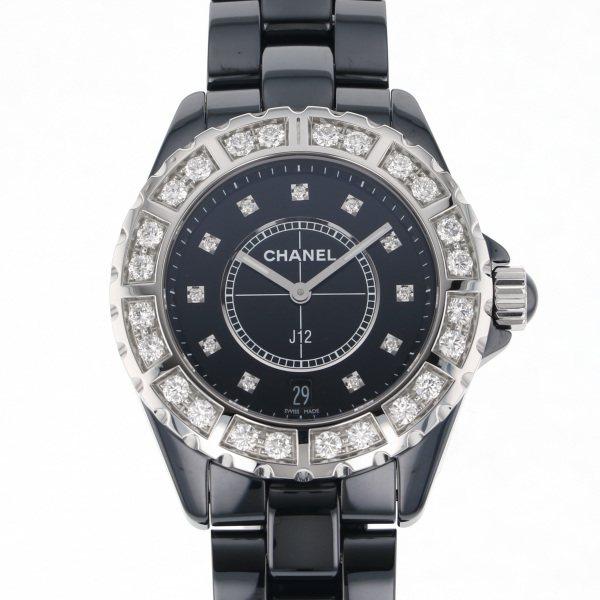シャネル CHANEL J12 H2428 ブラック文字盤 メンズ 腕時計 【新品】