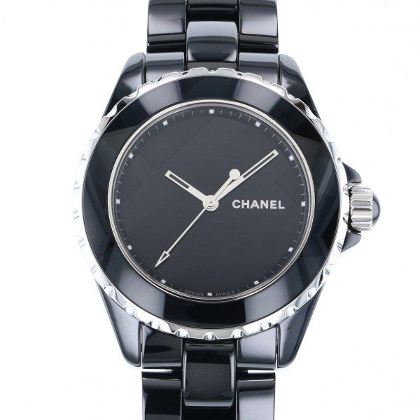 シャネル CHANEL J12 アンタイトル 世界限定1200本 H5581 ブラック文字盤 メンズ 腕時計 【中古】