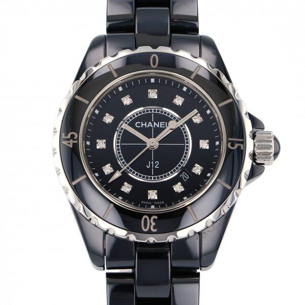 シャネル CHANEL J12 33mm H1625 ブラック文字盤 レディース 腕時計 【中古】