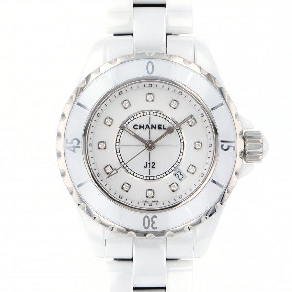 シャネル CHANEL J12 H1628 ホワイト文字盤 レディース 腕時計 【新品】