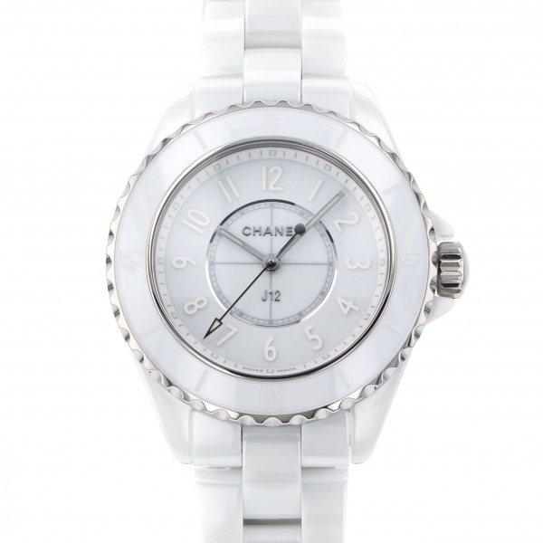 シャネル CHANEL J12 ファントム ホワイト 世界限定1200本 H6345 ホワイト文字盤 レディース 腕時計 【新品】