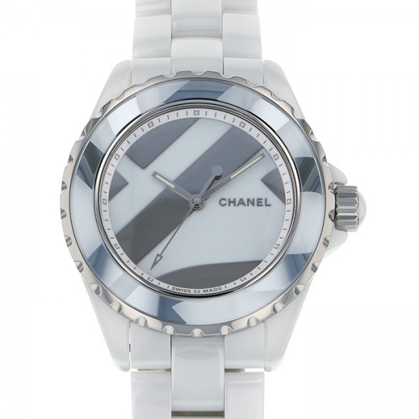 シャネル CHANEL J12 アンタイトル 世界限定1200本 H5582 ホワイト文字盤 メンズ 腕時計 【新品】
