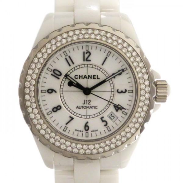 シャネル CHANEL J12 38mm ベゼルダイヤ H0969 ホワイト文字盤 メンズ 腕時計 【新古品】
