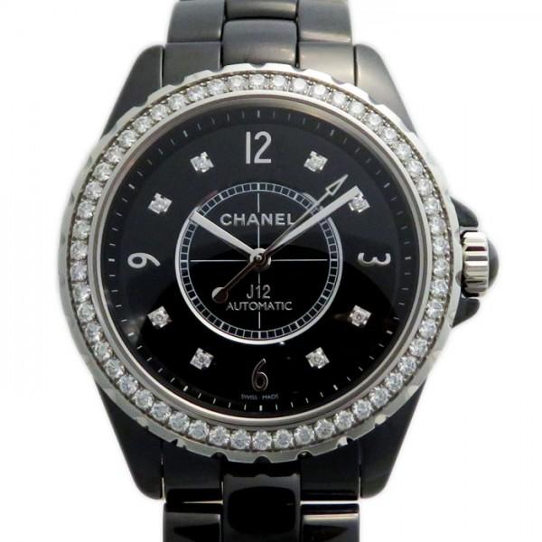 シャネル CHANEL J12 38mm ベゼルダイヤ H3109 ブラック文字盤 メンズ 腕時計 【新品】