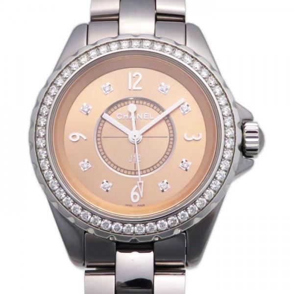 シャネル CHANEL J12 クロマティック 33mm ベゼルダイヤ H2563 ピンク文字盤 レディース 腕時計 【新品】